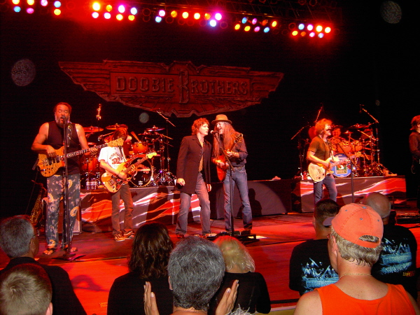 On stage with the Doobie Brothers