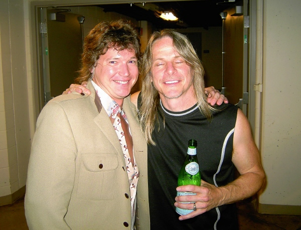 With Steve Morse of Deep Purple